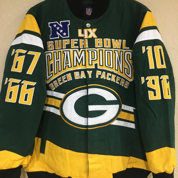 2d1b54c45 Green Bay Packers 4X Championship Cotton Jacket